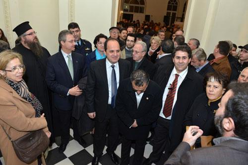 Στην εκδήλωση παραβρέθηκαν εκτός από τη Γ. Γραμματέα του Υπουργείου Πολιτισμού και Αθλητισμού κ. Λίνα Μενδώνη, ο Βουλευτής Πέλλας κ.Ιορδ. Τζαμτζής,  ο διευθυντής της υπηρεσίας Διεθνών Σχέσεων του Υπουργείου Εξωτερικών κ. Θάνος  Κοτσιώνης, η διευθύντρια της διεύθυνσης Προϊστορικών και Κλασικών αρχαιοτήτων του ΥΠ.ΠΟ.Α. κ. Νικ. Βαλάκου καθώς και η διευθύντρια της διεύθυνσης Βυζαντινών και Μεταβυζαντινών Αρχαιοτήτων  του ΥΠ.ΠΟ.Α.